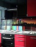 Стеклянный кухонный фартук из закаленного стекла с ультрафиолетовой фотопечатью 01