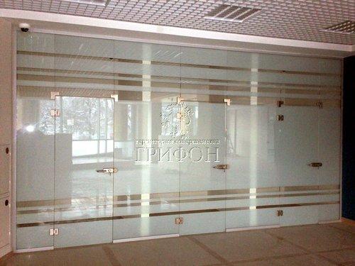 Стеклянная офисная перегородка в банк 01 Нижний Новгород