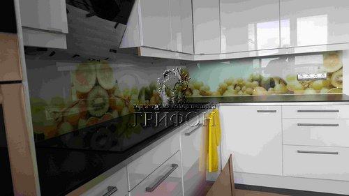 Кухонный фартук из закаленного стекла с цветной ультрафиолетовой фотопечатью (Нижний Новгород) 01