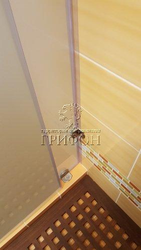 Угловая душевая перегородка из матового стекла matelux с раздвижной дверью (Нижний Новгород) 10