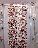 Душевая перегородка из выбеленного закаленного стекла с раздвижными дверями (Нижний Новгород) 03